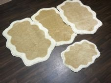 ROMANY WASHABLES TRAVELLER MATS FULL SETS OF 4 NEW LIGHT BEIGE/CREAM 80X120CM